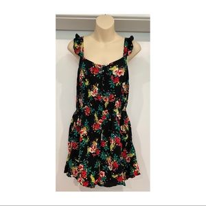 Lily Loves Floral Sleeveless Playsuit Pockets